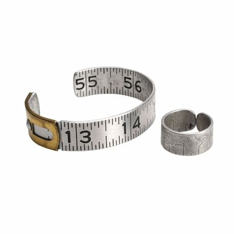 Recycled Ruler Jewelry- Ring