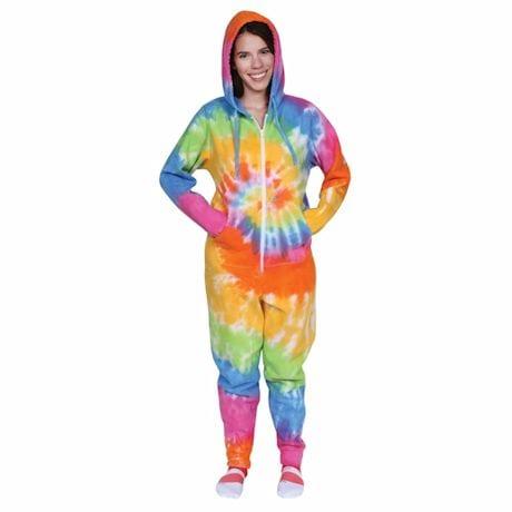 Tie-Dye Sweatshirt Jumpsuits
