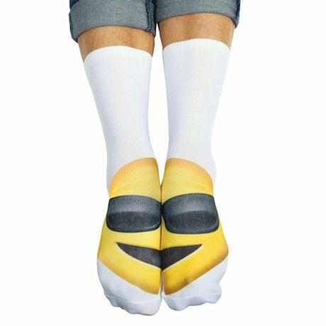 Emojicon Crew Socks- Sunglasses