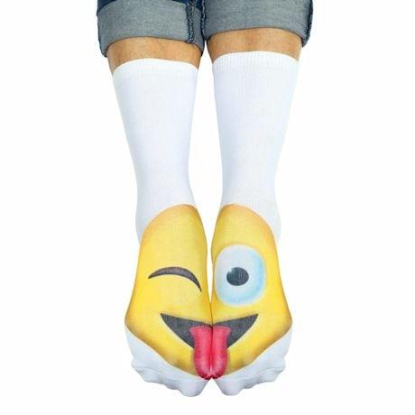 Emojicon Crew Socks- Wink