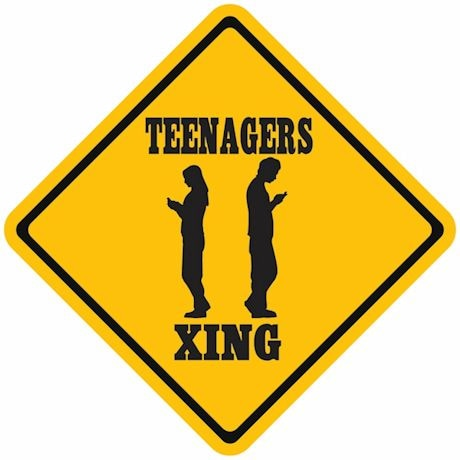 Family Caution Signs- Teenagers Xing