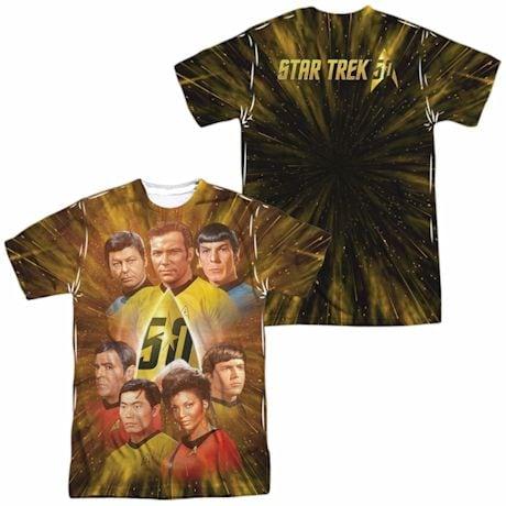 Star Trek 50Th Anniversary Crew Sublimated Tee