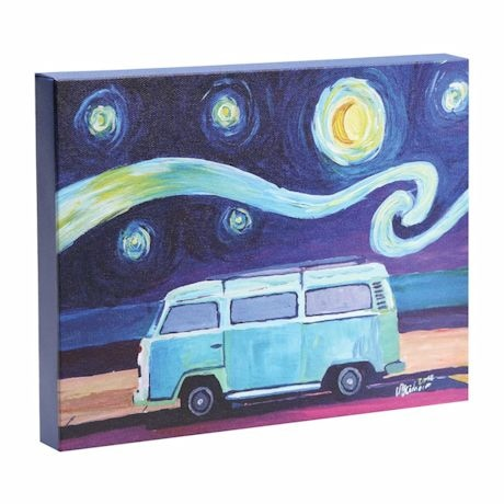 Starry Night Surf Bus Canvas