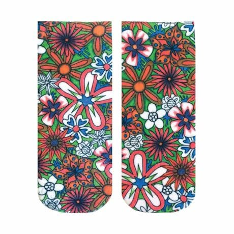Color Yourself No-Show Socks - Floral