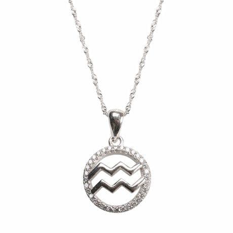 Aquarius Horoscope Necklace