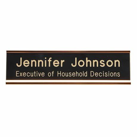 Personalized Desk Sign - Executive Of Household Decisions