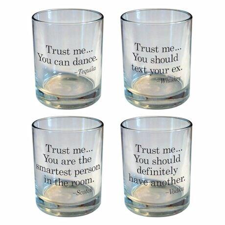 Trust Me Rocks Glass Set