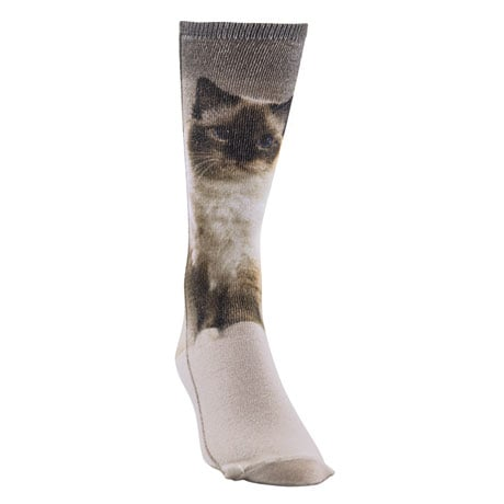 Cat Breed Sublimated Crew Socks