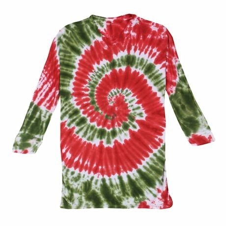 Holiday Tie Dye Ladies T-Shirt