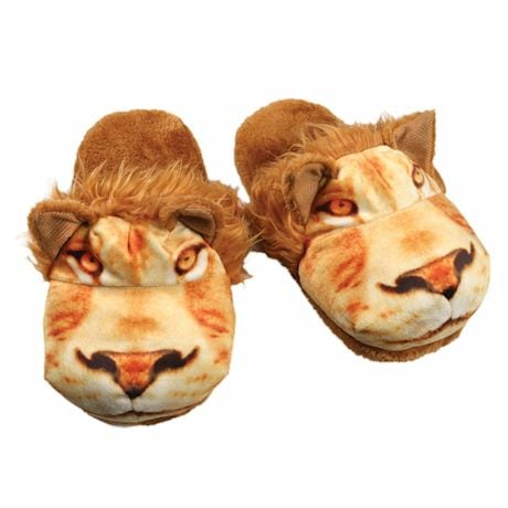 Sublimated Animal Slippers - Lion