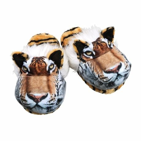 Sublimated Animal Slippers - Tiger