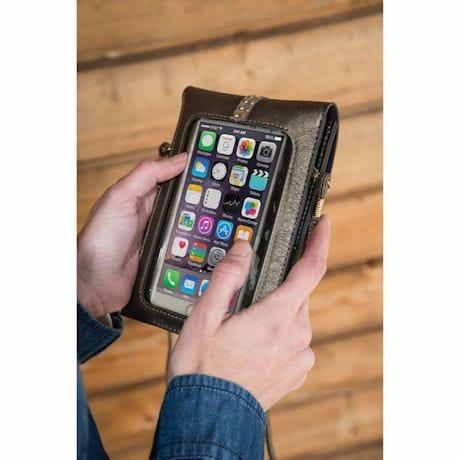 Cell Phone Crossbody Purses - Pewter