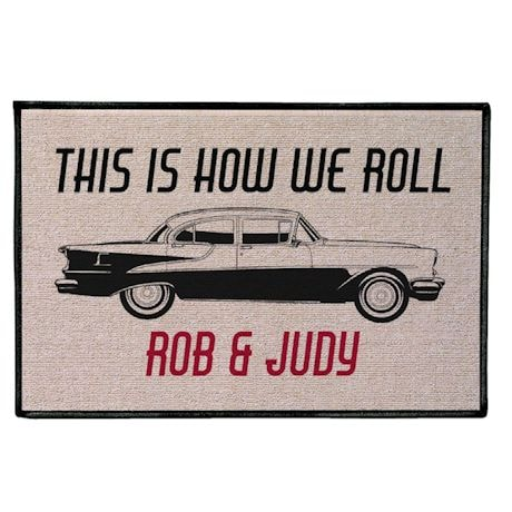 Personalized How We Roll Mat