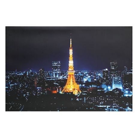 Great Places LED Lighted Canvas - Eiffel-Inspired Tokyo Tower