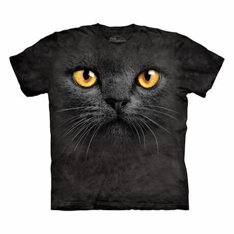 Big-Face Cat T-Shirts- Black