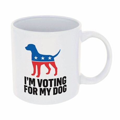 I'm Voting For My Dog Mug