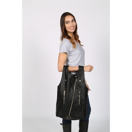 Faux Leather Vest/Purse