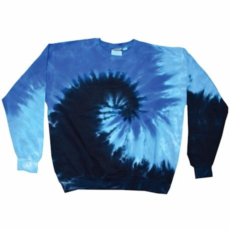 Tie-Dye Crew Fleece Sweatshirts -Black