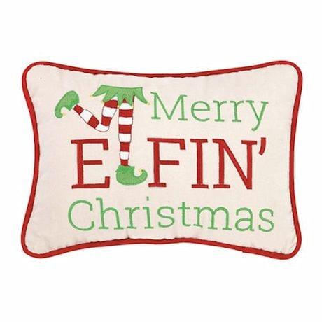 Merry Elfin' Christmas Pillow