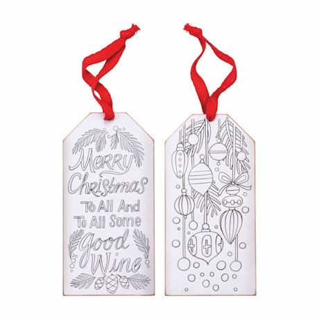 Color It Yourself Wine Bottle Tags