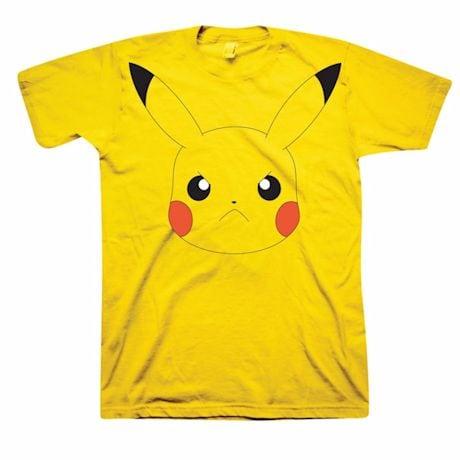 Pokemon Angry Pikachu Face Yellow T-Shirt