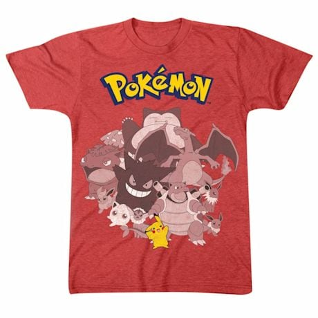 Pokemon Group Gotta Catch Em All Red T-Shirt