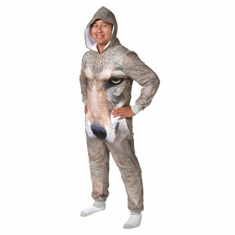 Sublimated Animal Jumpsuits - Wolf