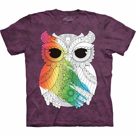 Color Yourself Tee- Owl