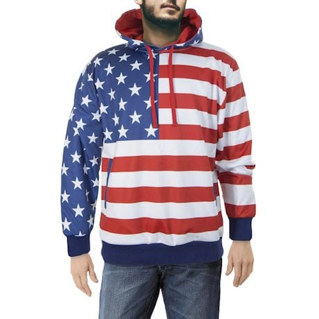 Sublimated USA Flag Hoodie