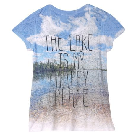 My Happy Place Ladies' T-Shirt - Lake