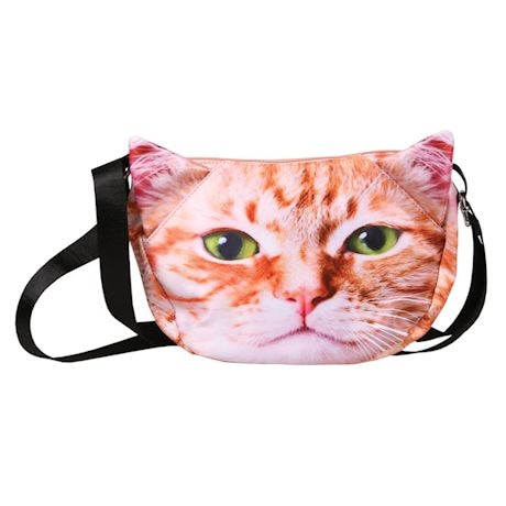 Sublimated Cat Face Hobo Bag - Orange Tabby
