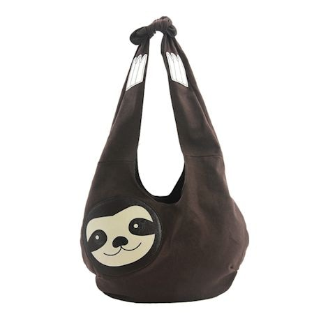 Sloth Hobo Bag - Sublimated Cross Body Bag with Shoulder Strap