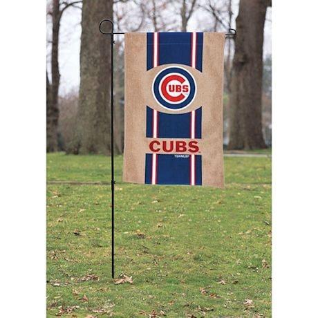 MLB Double-Sided Burlap House Flag