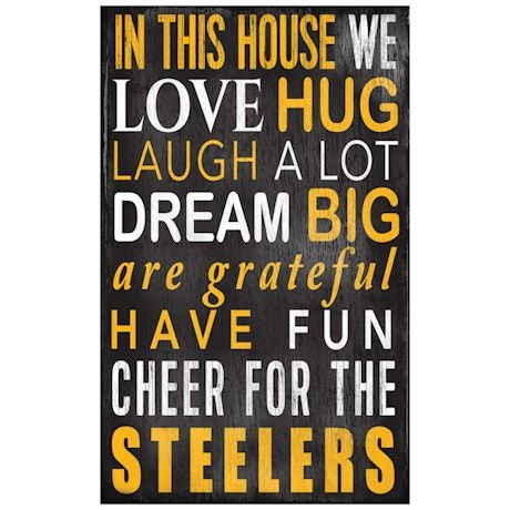 In This House NFL Wall Plaque