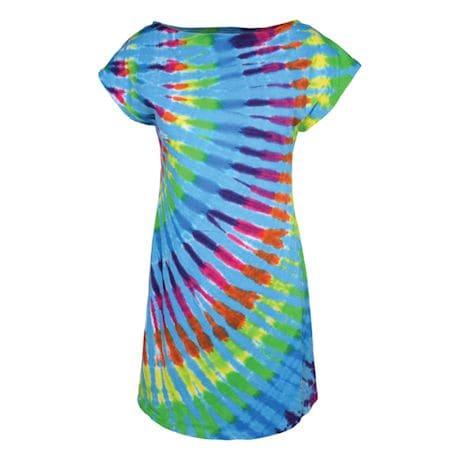 Rainbow Tie-Dye Tunic Dress