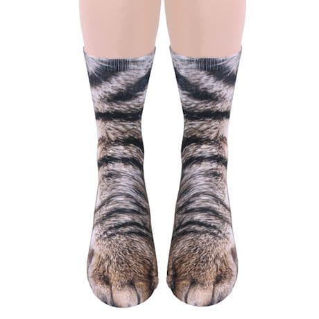 Sublimated Paw Crew Socks - Cat