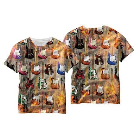 Guitar Collage Sublimated T-Shirt