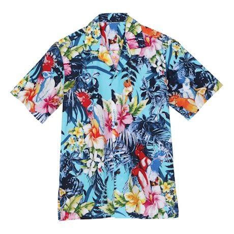 Tropical Parrots Camp Shirt