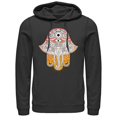 Artsy Elephant Ladies' Hoodies - Black