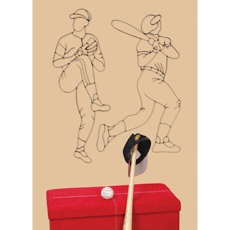 Baseball Player Metal Wall Art - Batter