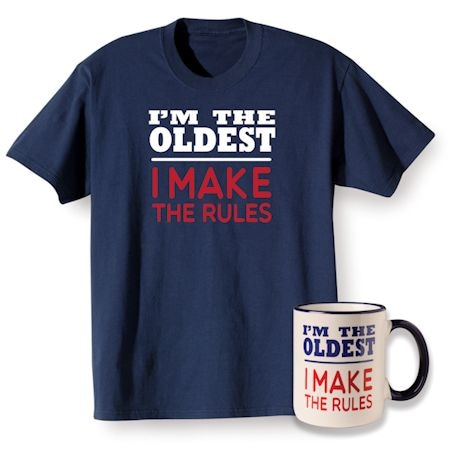 Rules Oldest T-Shirt and Mug Gift Set