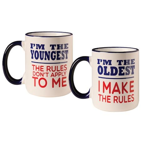 Rules Oldest and Youngest Mug Set
