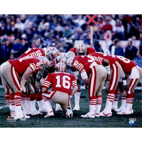 Joe Montana San Francisco 49ers Huddle Signed 16x20 Photo