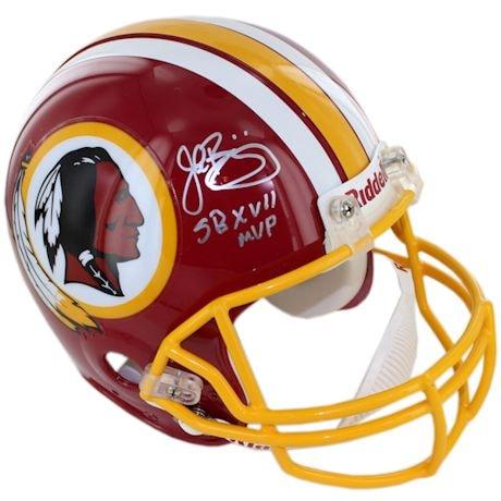 John Riggins Signed Washington Redskins Replica Helmet w/ SB MVP insc