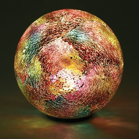 Multi-Colored Mosaic Led Glass Ball