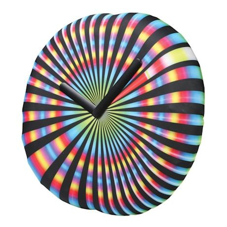 Inflatable Clocks - Spinning Tie-Dye