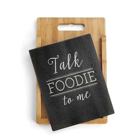 Talk Foodie To Me Cutting Board Set