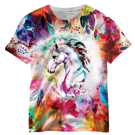 Watercolor Unicorn Sublimated Tee