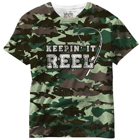 Keepin It Reel Camo Sublimated Tee