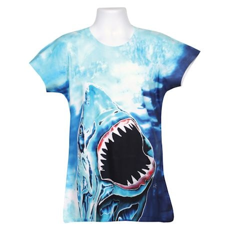 Ladies' Sublimated Ocean Tees - Shark